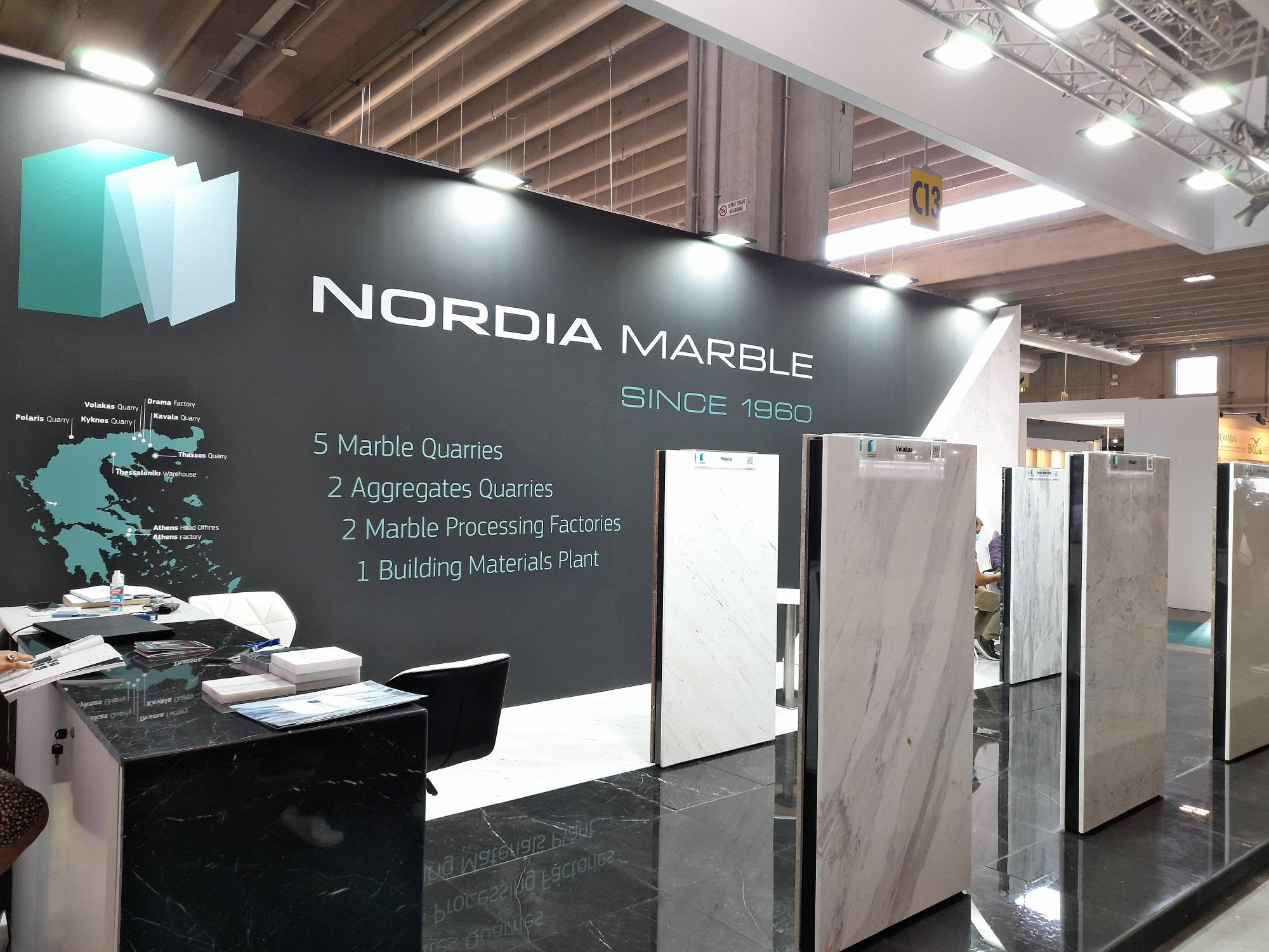 Nordia Marble in Marmomac 2021, Verona - Italy